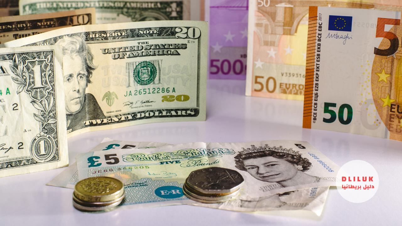 انخفاض الجنيه الاسترليني مقابل الدولار واليورو